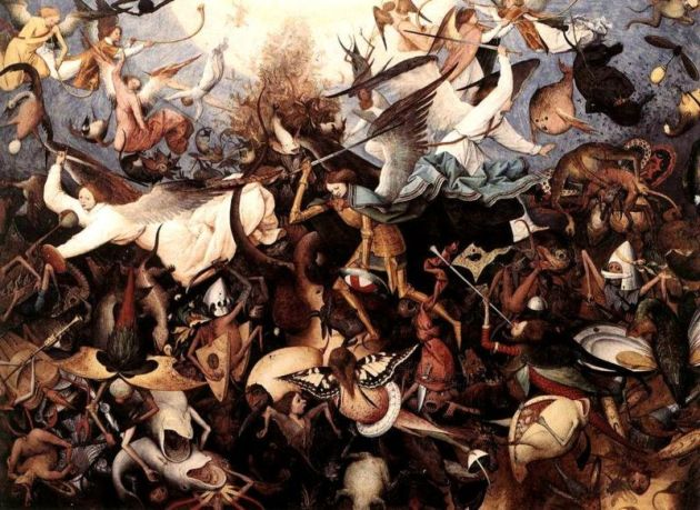'The Fall of the Rebel Angels' by Pieter Bruegel the Elder