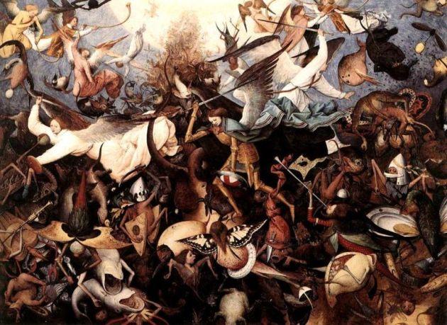 'The Fall of the Rebel Angels' by Pieter Bruegel the Elder